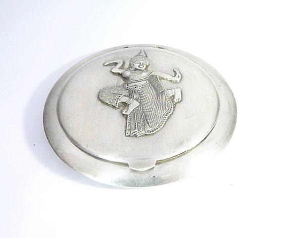 Silver Compact Mirror SIAM