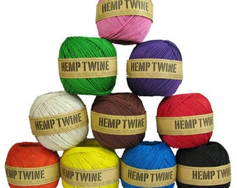 1mm Hemp Twine 430ft (choose the colors you want)