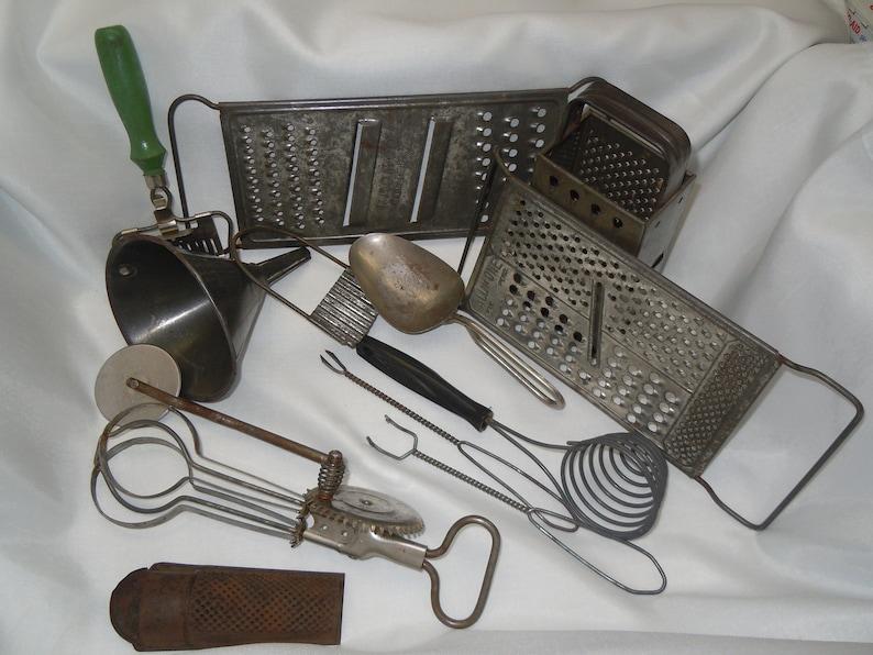 Assorted Antique Kitchen Utensils, Lot of 13