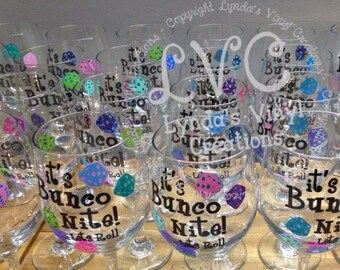 24 Bunco Wine Glasses//Bulk Discount applied