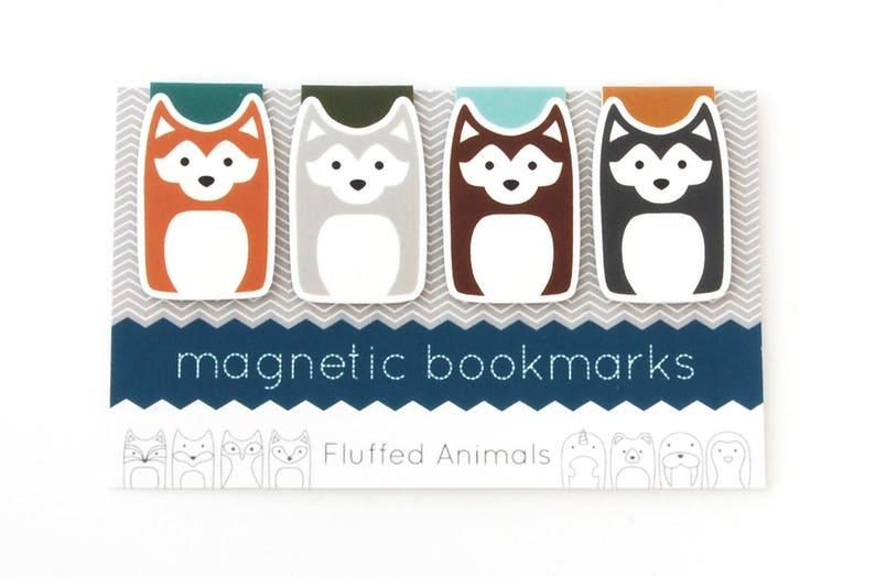 Husky Dog Bookmarks  Magnetic Bookmark Set of 4  Four image 0