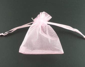 20 Organza gift pouch 16 x 13 cm, white or pink selectable