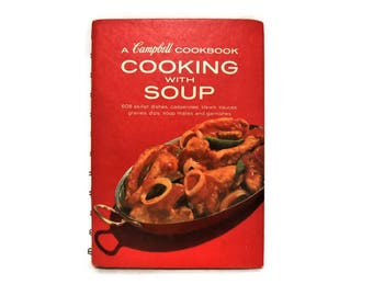 Vintage Cookbook/ Campbell Soup Cookbook/ Cooking with Soup/ Fourteenth Printing/ 1977/ 1970's/ Vintage Recipes/ Easy Recipes/ Gift for Her
