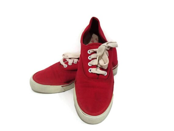 4f6f6ef854d43 Vintage Polo Ralph Lauren Tennis Shoes  Candy Apple Red