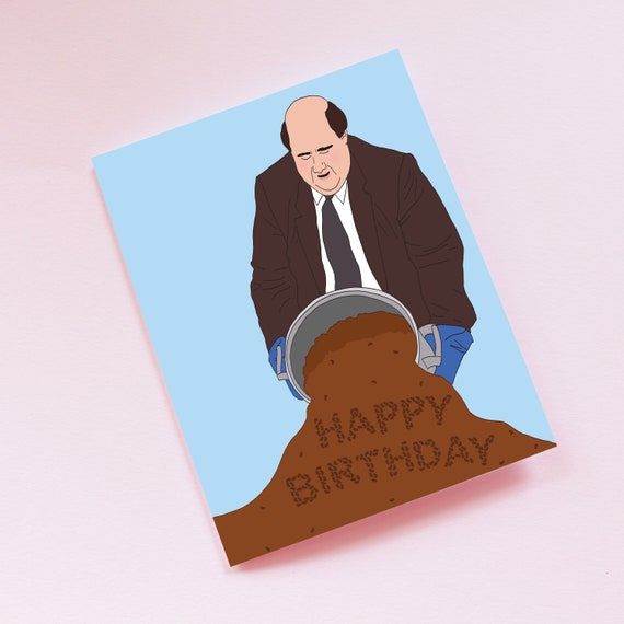 The Office Kevin Spilling Chili Birthday Card