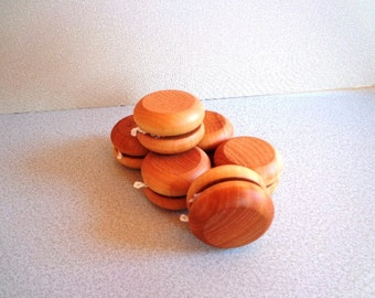12  Wooden YOYO's - Stocking Stuffer - Party Favor - Hand Polished - Birthday Give Aways - All Natural - Eco Friendly Kids Toy