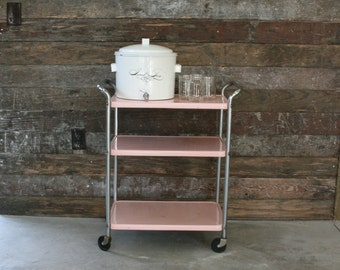 Vintage Metal Cart ~ Vintage Kitchen Utility Cart ~ Craft Organization Cart  ~ Display Stand ~