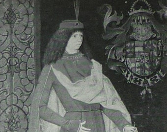 Vintage Historical Print of Maximilian, Duke of Austria - Medieval Decor - Middle Ages Art - Renaissance Art - Royal Portrait - European Art