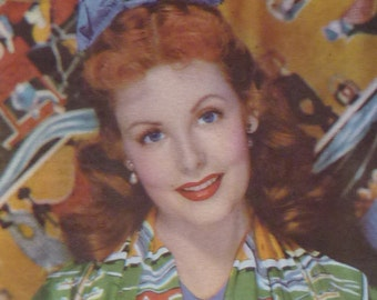 1950s Antique Arlene Dahl Print, Movie Star, Hollywood Decor, Old Film Wall Art, Available Framed, Starlet Art, Three Little Words Film Gift