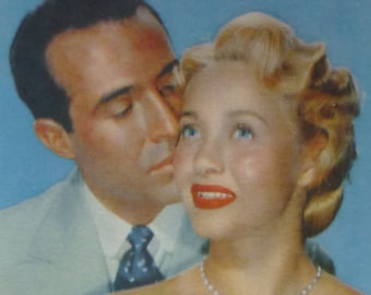 1950s Vintage Hollywood Movie Print of Jane Powell and Ricardo Montalban, Old Retro Film Decor, Available Framed, Cinema Art, Silver Screen