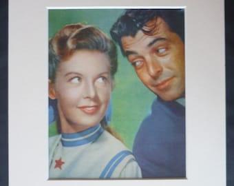 1950s Vintage Hollywood Movie Print of Barbara Bates and Rory Calhoun, Retro Film Decor, Available Framed, Cinema Art Silver Screen Wall Art