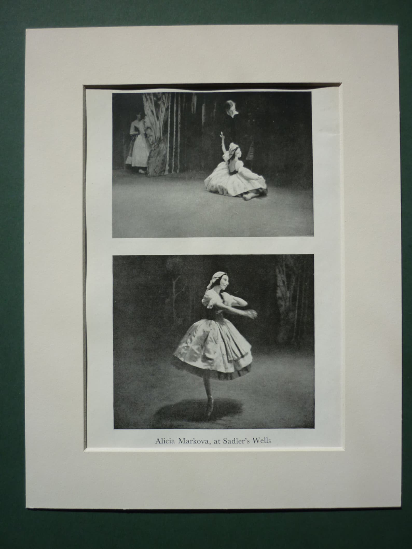 vintage 1946 ballet dancer print - ballerina - sadlers wells theatre - ballet studio - technique - alicia markova - dance - danc