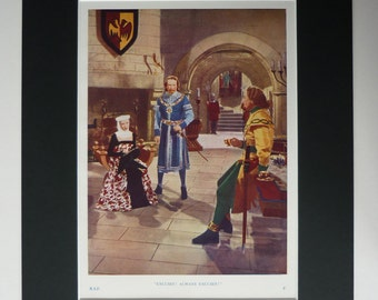 Original 1950 Print From Rogues Of Sherwood Forest - Maid Marian - Robin Hood - Film - Movie - Matted - Photograph - Vibrant Colour