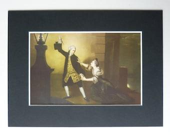 Vintage 1940s Venice Preserv'd Print -  Johann Zoffany - Oil Painting - Thomas Otway - Murder - Moonlight - Streetlight