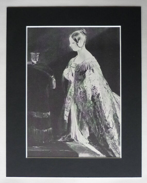 Charles Robert Leslie Print Of A Young Queen Victoria Etsy