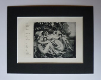 1913 Antique George Frederic Watts Print of the Infancy of Zeus, Available Framed, Myth Art, Symbolist Gift, Symbolism Decor, Childhood Art