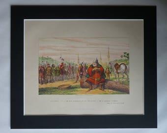 1870s Antique George Cruikshank Print of Henry IV Part I, Shakespearean Decor, Available Framed, Stage Art, William Shakespeare Theater Gift
