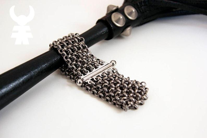 Silver Wide Bracelet Chunky Multi-Chain Cuff Bracelet Linked image 1