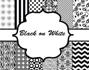 Digital Paper - Black on White