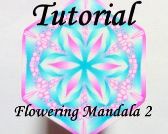 Polymer Clay Cane Tutorial - TUTORIAL - Flowering Mandala 2