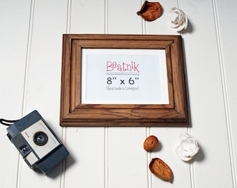 8x6 Wood picture frame // Handmade from real oak // Wedding gift // Home decor // 6x8 frame // Custom sizes available