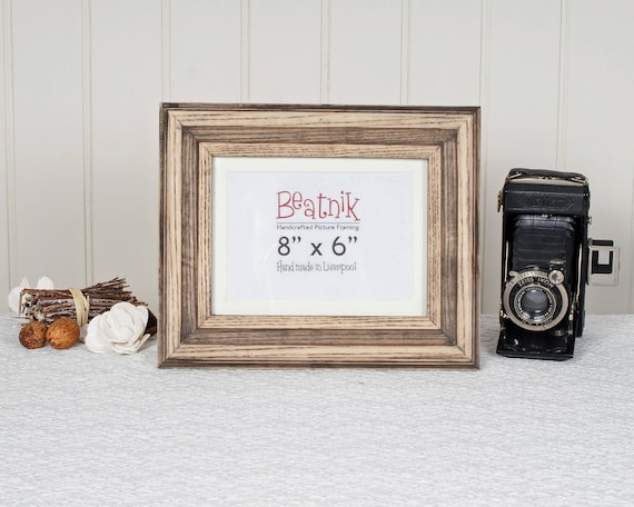 Distressed Wood Picture Frame 8x6 6x8 Handmade From Etsy