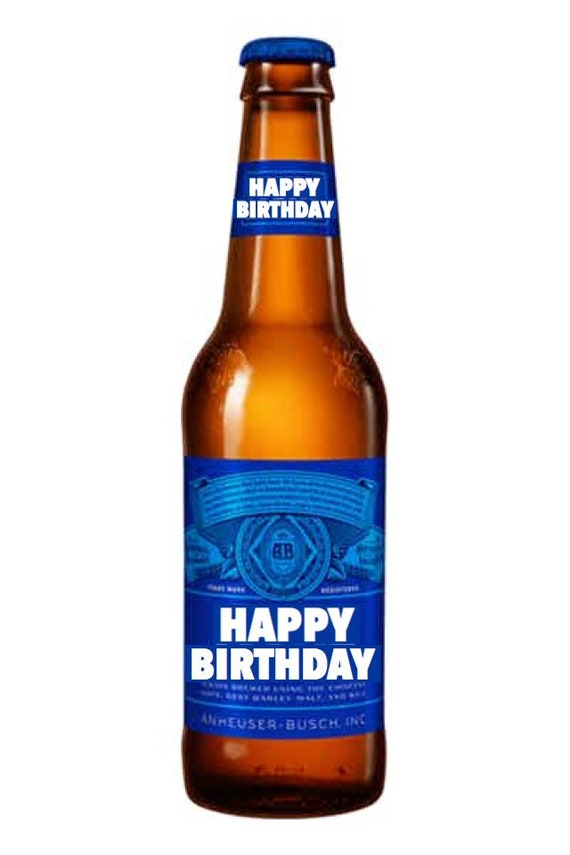 Stupendous Beer Happy Birthday Edible Cake Topper Etsy Funny Birthday Cards Online Overcheapnameinfo