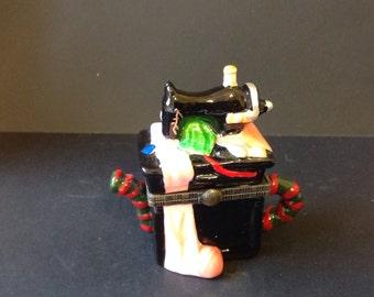 Vintage Sewing Machine Tea Pot Treasure Box - SM63