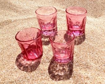 Hot Pink Shot Glasses - Set of 4