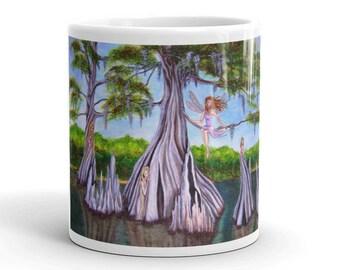 Cyprus Fairies Original Art Coffee Mug