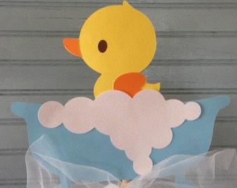 Rubber Ducky Baby Shower Centerpiece