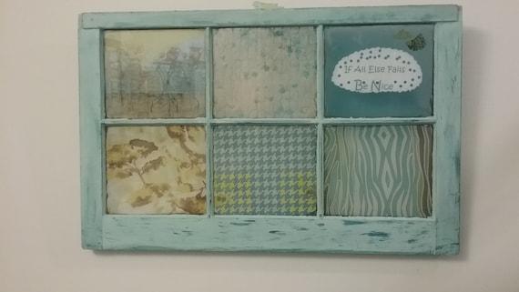 Farmhouse Wedding Vintage Windows Wall Art Old Window Frame Color Teal Decor Window Treatment Unique Art