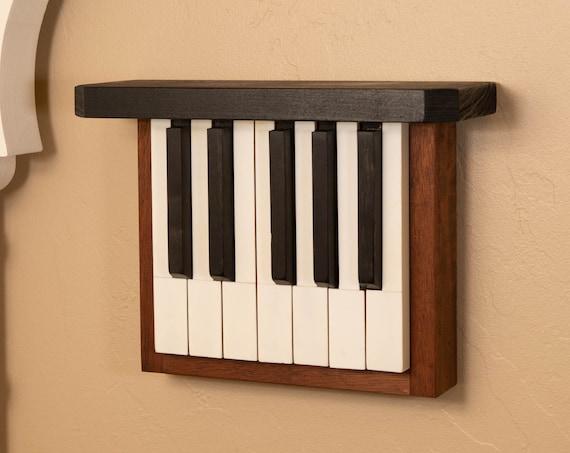 "Walnut ""Little Ditty""--Repurposed piano keys, Home decor, vintage home, contemporary home decor"