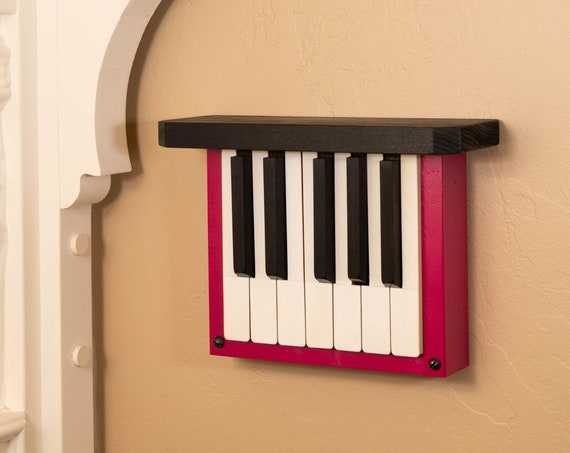 Little Pink Ditty--Piano keys up-cycled, repurposed