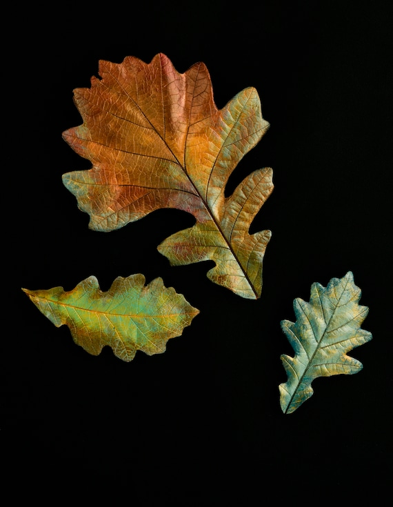 Autumn Oak Leaf Castings- Group of 3