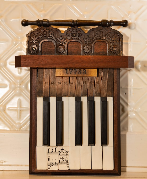 Vintage Piano Wall Art, Vintage Decor for Music Lovers