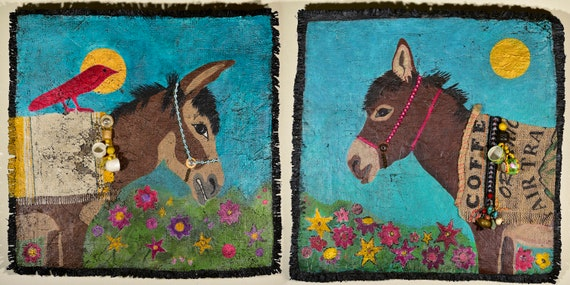 Coffee Burro Soul Mates Diptych (set of 2)