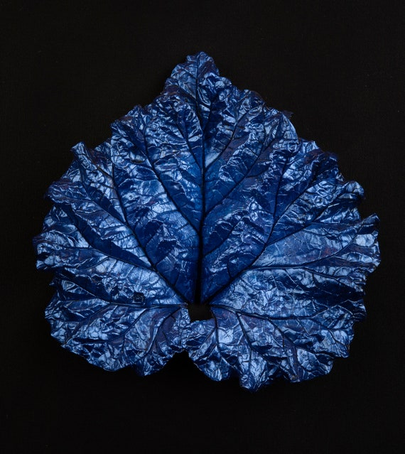 Venetian Blue – Small Leaf Casting – Art From the Garden
