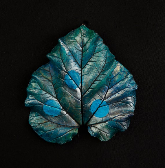 Subdued Blue – Small Leaf Casting – Art From the Garden