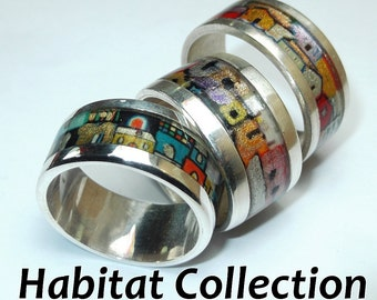 Habitat Collection - Silver ring handpainted with personalized text