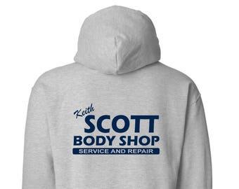 Keith Scott Body Shop One Tree Hill Back Print Basic Cotton Hoodie - Sport Grey