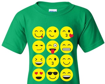 Emoji Faces YOUTH T Shirt