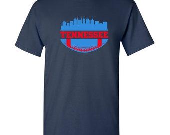 f22fd0331 Tennessee Vintage Football Skyline - Game Team City Pride T Shirt