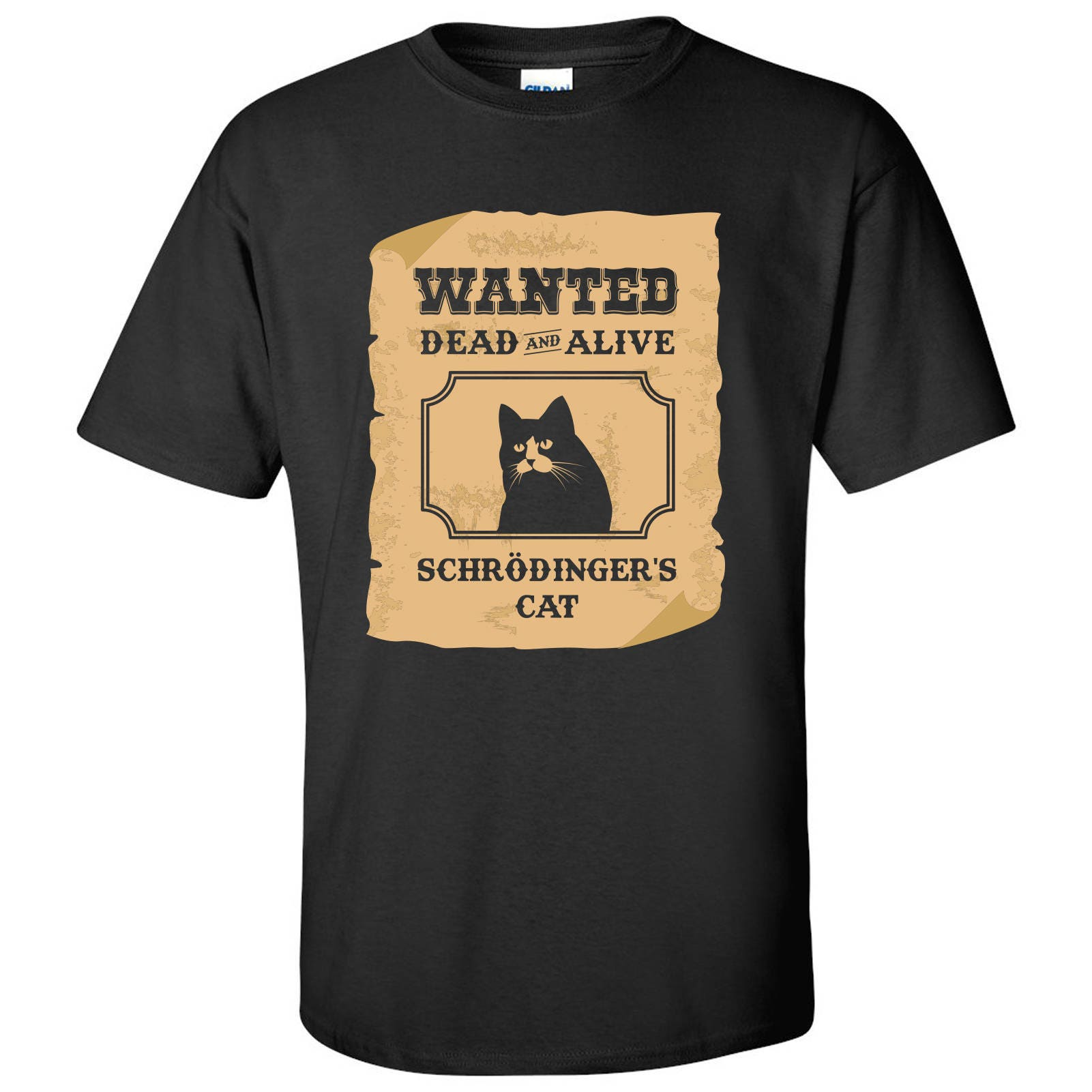 cce18580b Wanted Dead and Alive Schrodinger's Cat T Shirt | Etsy