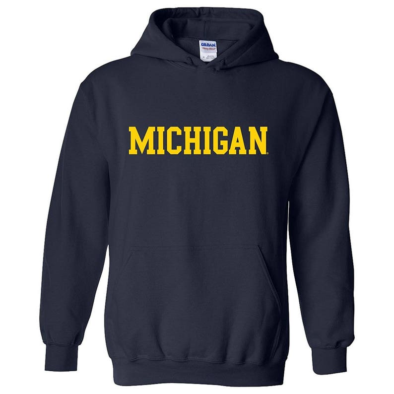 7ff41dad8bc3e Michigan Wolverines Basic Block Hoodie | Etsy