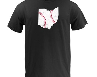 Ohio Baseball (White/Red) - Black