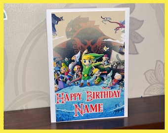 Legend Of Zelda Birthday Card With Your Name