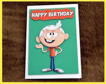 Lincoln Loud from the Loud House 3D Birthday Card