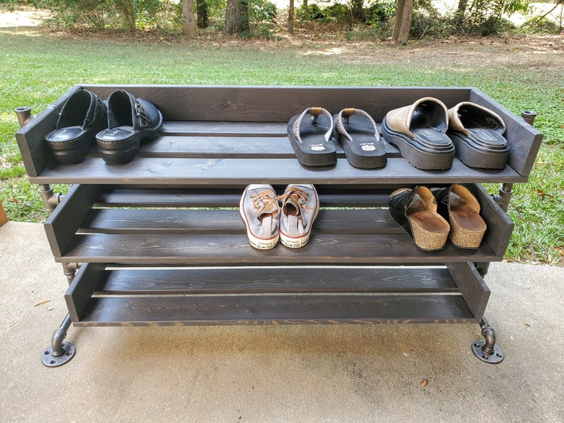 Handmade Reclaimed Wood Shoe Stand / Rack / Organizer with image 0