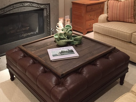 Square Ottoman Tray Table Top Etsy